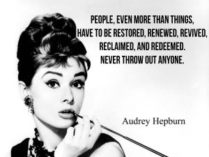 Audrey Hepburn Quote 1